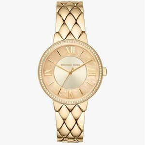 Coming soon! Michael Kors Courtney Pave Gold Watch